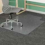 Deflecto CM14433F Chairmat Wide 46''x60'' Lip 25''x12'' Beveled Edge Clear