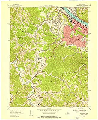 Kentucky Maps |1953 Ashland, KY USGS Historical Topographic Map |Fine Art Cartography Reproduction Print
