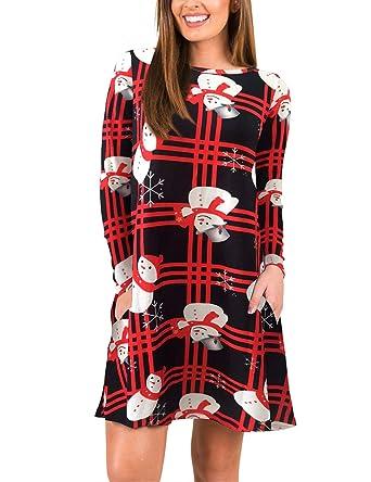 8bb51778ebe FeelinGirl Femme noel robe noel rouge robe noel sexy noel robe fille robe  noel ado robes