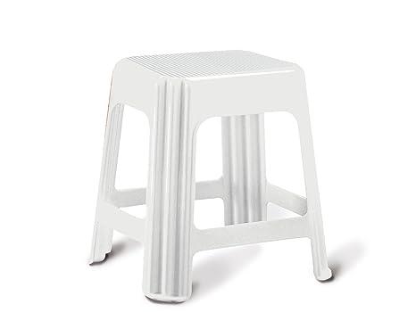 Giganplast sgabello plastica bianco: amazon.it: casa e cucina