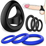 Silicone Cock Rings Set - SEXY SLAVE 7pcs Stretchy & Elastic Penis Ring for Men Longer Lasting Erections - Adult Sex…