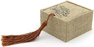 TRE Classica retro fiori tessuto anello scatola/ gioielli etnici/Gift box-A