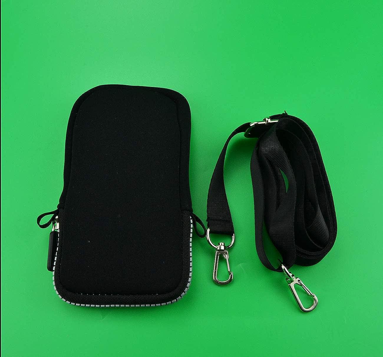 Storage Organizer Wristlet Cross Body Bag For 6 Inch Cell Phones with Adjustable Shoulder Strap Iphone Picnic Multipurpose Dark Skeleton Anatomy Neck Travel Wallet