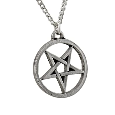 Amazon things2die4 metal mens pendant necklaces chrome plated things2die4 metal mens pendant necklaces chrome plated inverted pentagram pendantnecklace silver aloadofball