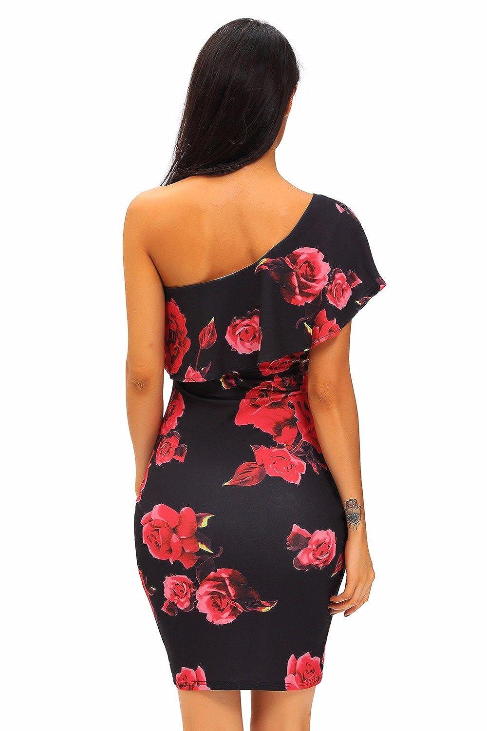 Carolina Dress Vestidos De Fiesta Sexys Cortos Casuales Ropa De Moda Para Mujer De Noche Elegantes Negros Rojos VE0039 at Amazon Womens Clothing store: