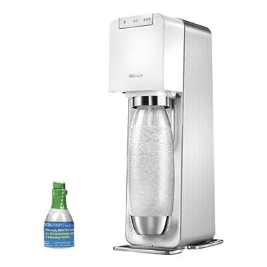 SodaStream Power Metal Sparkling Water Maker Starter Kit, White