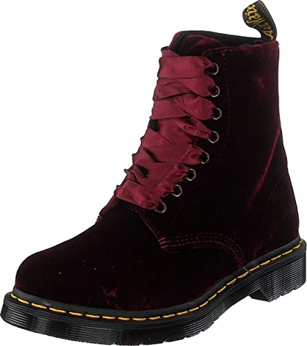 a73ff9ab8 Dr Martens 1460 Pascal Cherry Red Velvet Womens Boots: Amazon.co.uk ...