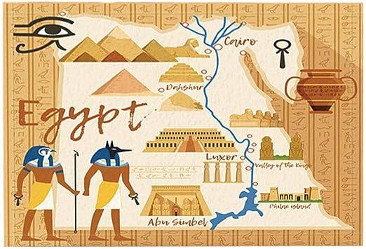 Vrupi Cartoon Bad Teppiche Agypten Stil Anubis Sphinx Pyramide