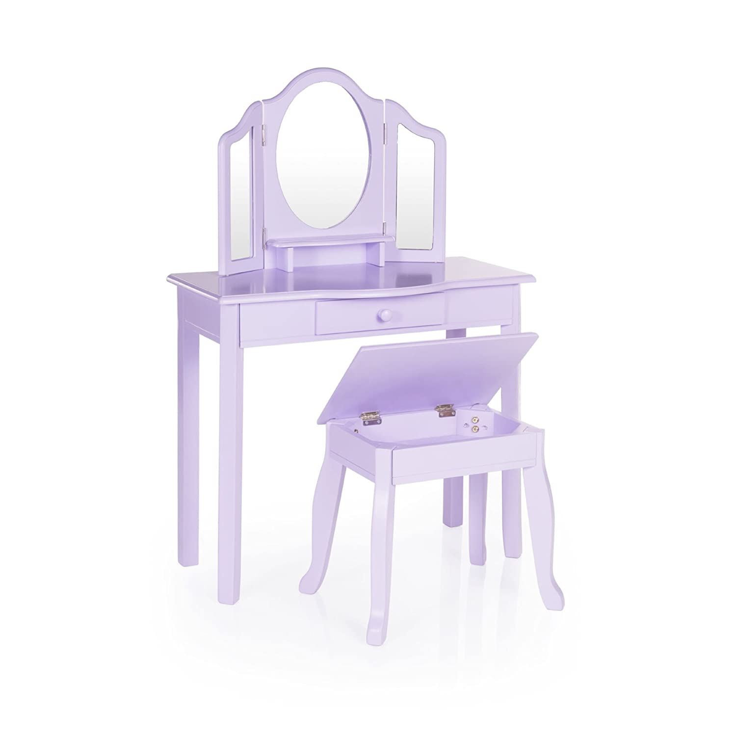 Incroyable Amazon.com: Guidecraft Vanity And Stool U2013 Lavender: Table And Stool Set  With Mirror And Make Up Drawer   Kidsu0027 Room Furniture: Kitchen U0026 Dining