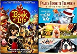 Cat in the Hat & Beethoven + Babe & Book of Life Cartoon - DVD 4 Movie Combo Family Animal kid fun set Dr. Seuss