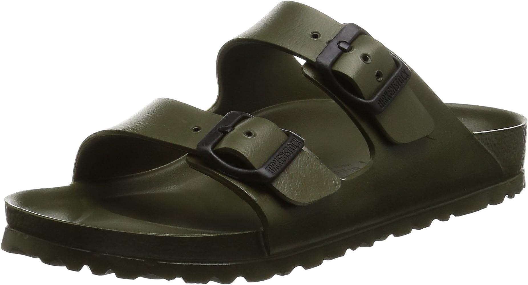 2f5a30783 Birkenstock Unisex Arizona EVA Dual Buckle Sandals, Khaki - 38 N EU
