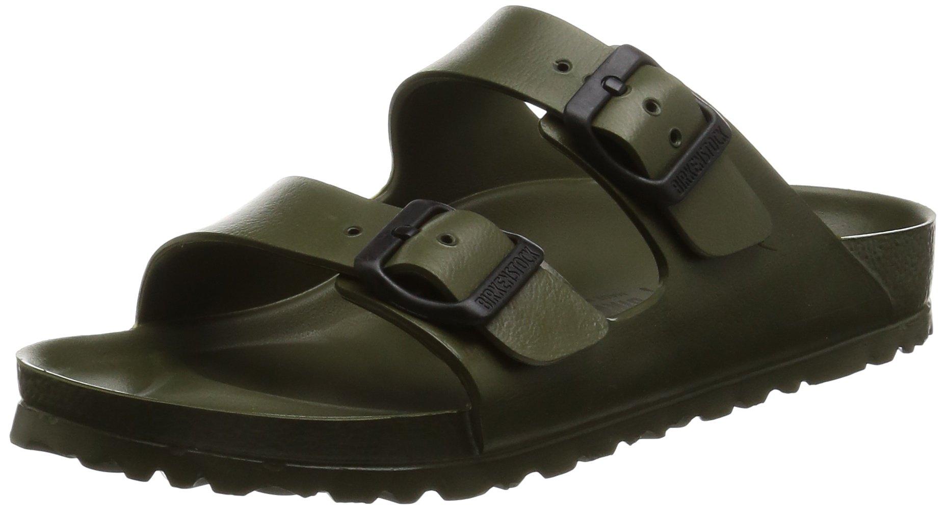 Birkenstock Unisex Arizona EVA Dual Buckle Sandals, Khaki - 39 N EU