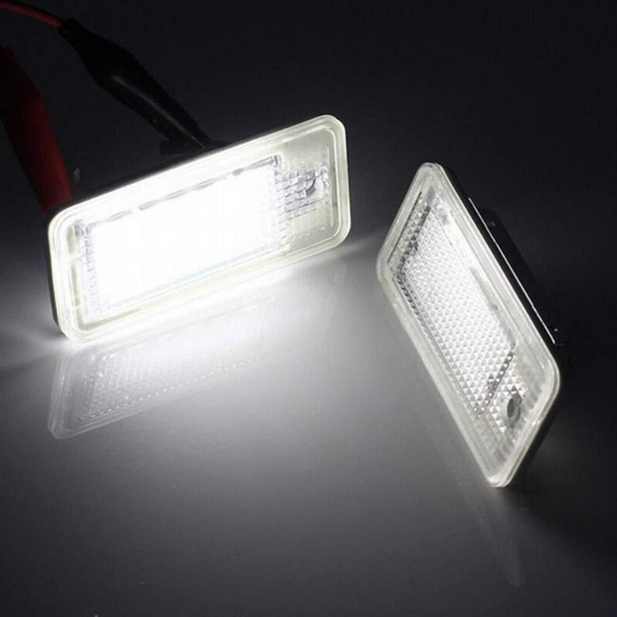 DONGMAO Luces de matr/ícula,2Pcs 18 LED N/úmero de matr/ícula L/ámpara de luz para A//UDI A3 S3 8P 8PA A4 S4 B6 B7 8H RS4 8E A5 RS5