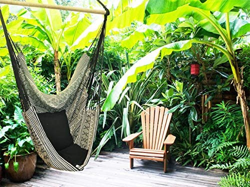Long Bed Bedroom Porch Hanging Chair for Yard Indoor//Outdoor Telary Large Sotavento Hammock Chair Swing Seat Portable