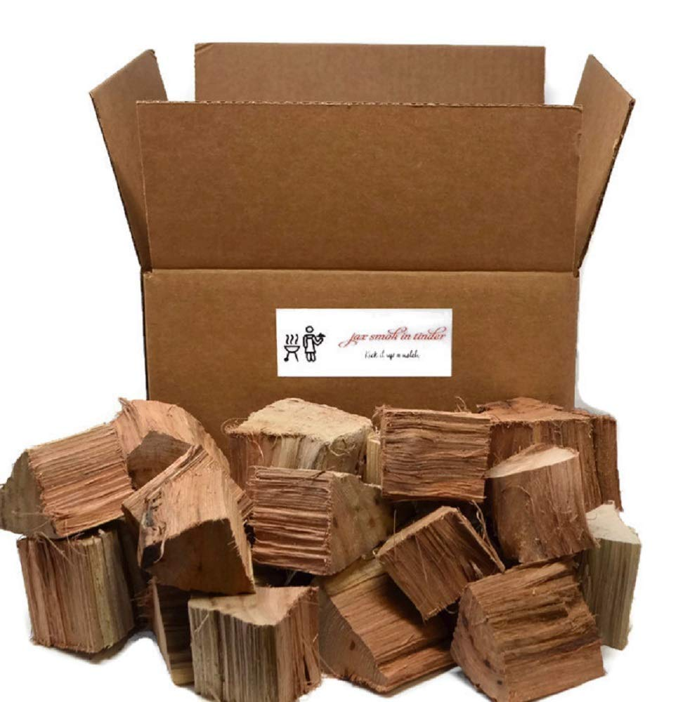 Jax Smok'in Tinder Premium BBQ Grill Flavored Wood Chunks- 10 lb Box (Hickory) by Jax Smok'in Tinder
