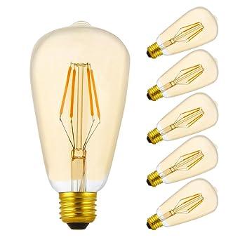 Bombilla LED E27 Regulable Vintage Edison Cálido 2200K, Equivalente a 30 W,AC 220V