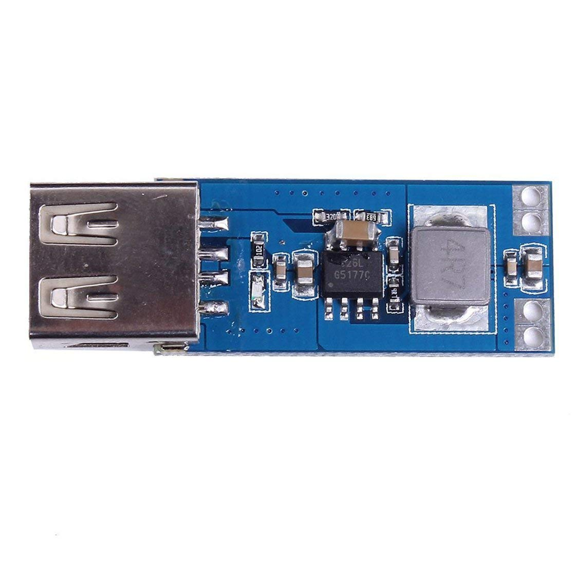3.7V 3.3V LouiseEvel215 DC-DC 3V 4.2V a 5V USB 2A Elevar el m/ódulo de Potencia Carga precisa del veh/ículo