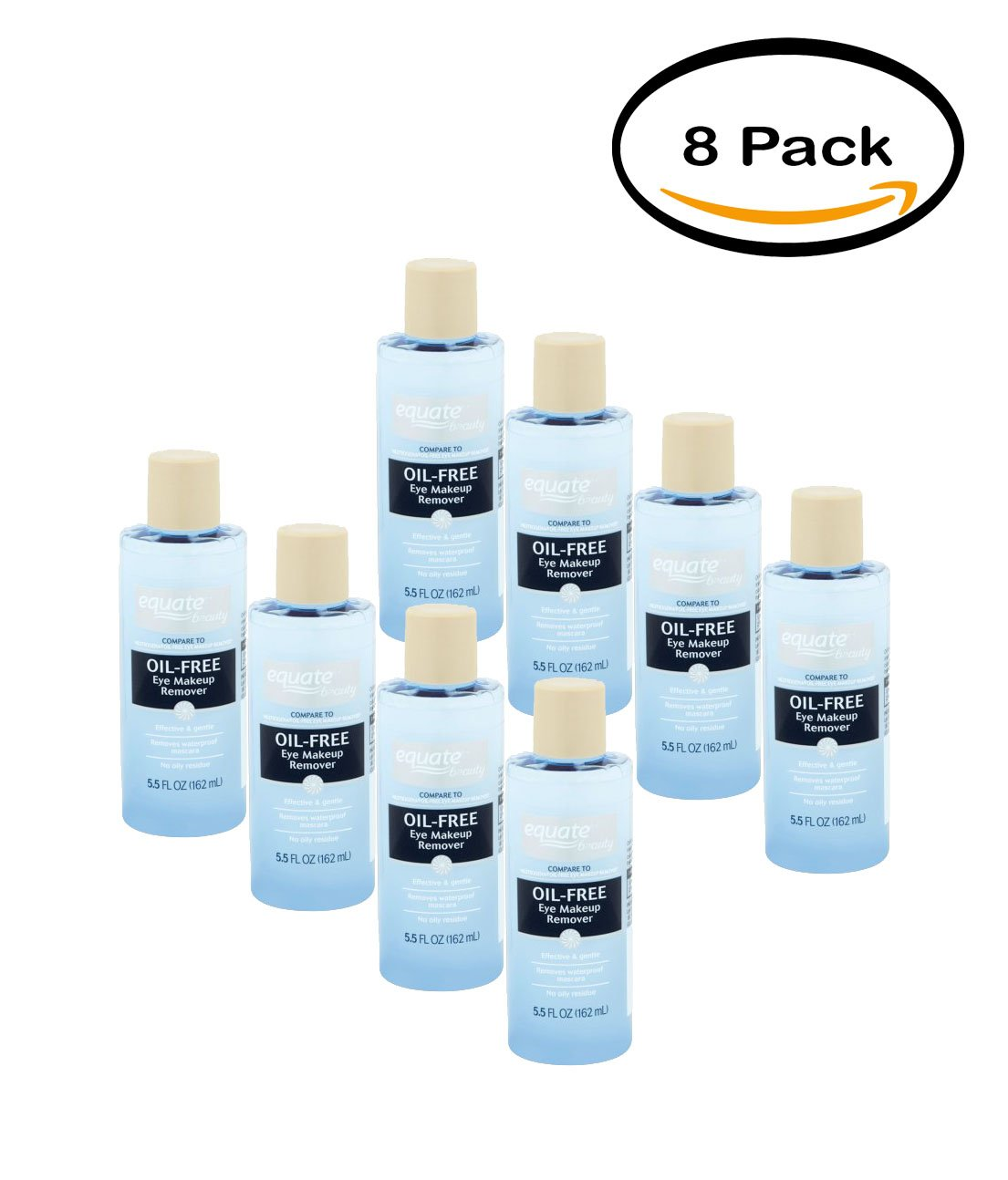 Amazon Pack Of 8 Equate Beauty Oil Free Eye Makeup Remover