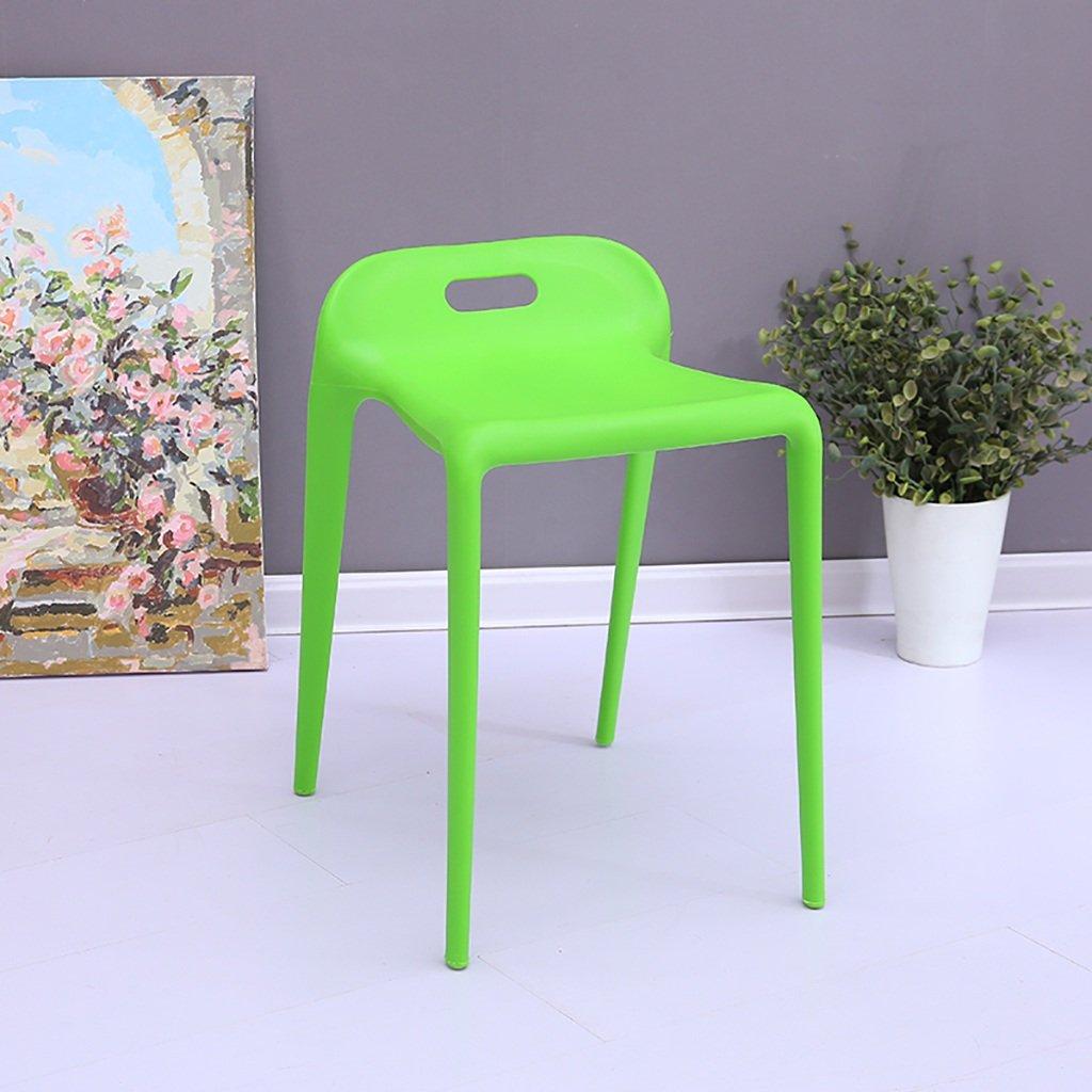 Qiansejiyijiajudengzi Sgabello per sedie Sgabello in plastica Antiscivolo Panca scarpiera Comoda per la Famiglia con Sgabello Basso (colore   C)