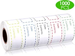 1000 Pieces Freezer Labels Removable Refrigerator Freezer Paper Labels Adhesive Food Storage Stickers, 3 x 1 Inches