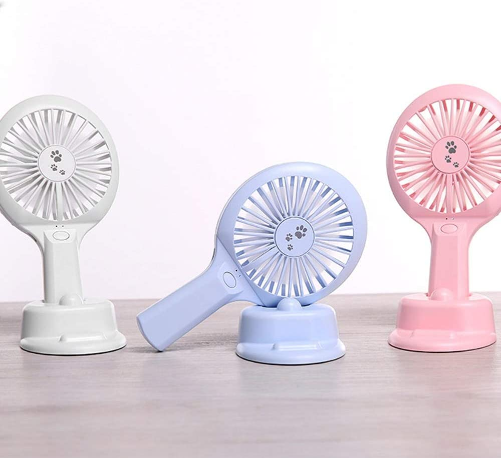 Color : Pink, Size : One Size 2 Speeds USB Rechargeable for Home Office Outdoor Travel Zxcvlina Portable Personal USB Fan Mini Electric Portable Desktop Table Cooling Fan