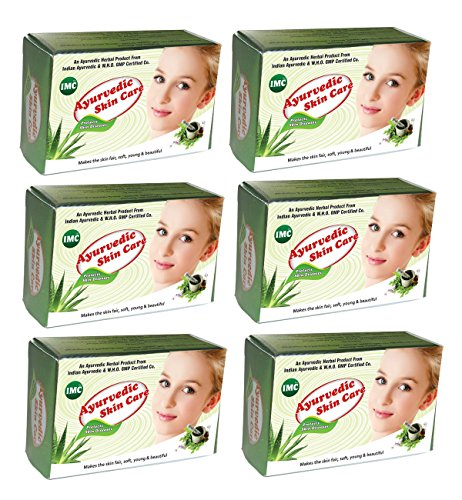 IMC Ayurvedic Skin Care Soap, Enriched with Aloe Vera, Neem, Sandal and 27 Herbs – Set of 6