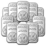 1 oz pure 0.999 Apmex silver bar lot of 10 sealed bars