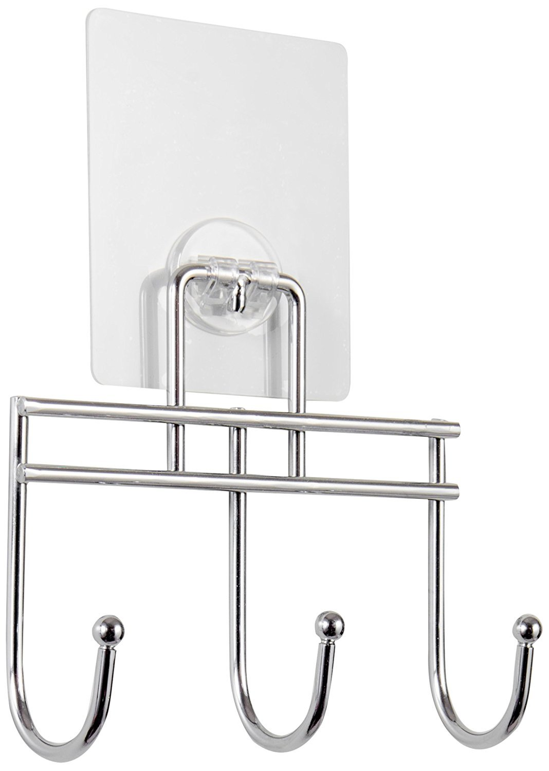 Compactor Bestlock Magic No Drilling Wall Mountable Kitchen Utensil Hanging Rack with 8 Hooks, Chrome C.I.E. Europe B00N4YYQU4