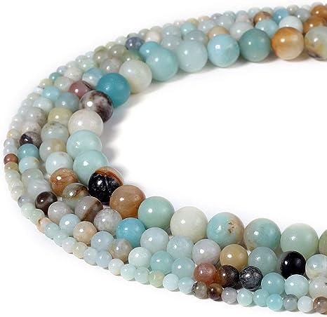 12 Stunning Round Amazonite Gemstone Beads 8 mm