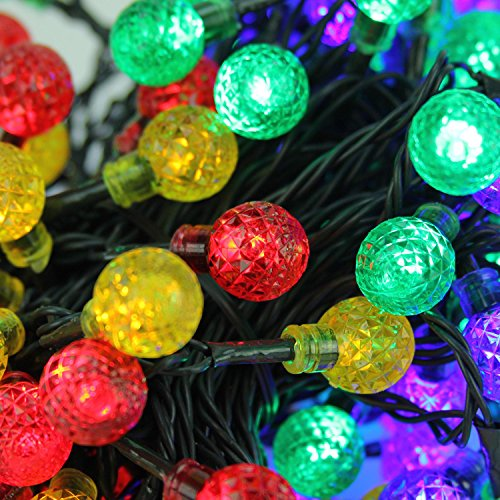 G20 Globe (PENN Set of 240 LED G20 Globe Christmas Lights-Green Wire, Multi-Colored)