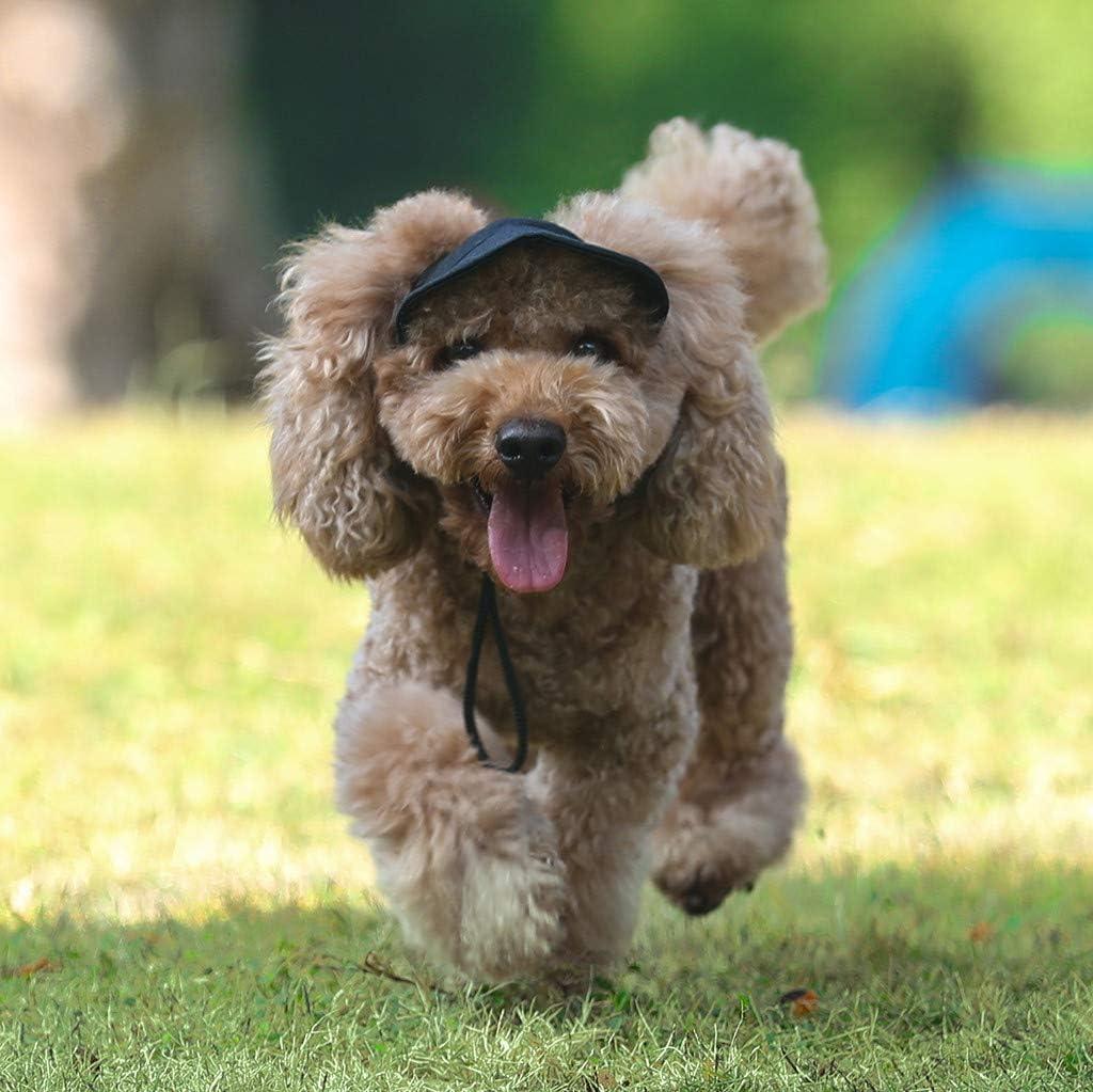 Barlingrock Pet Hat Dog Baseball Cap Outdoor Travel Hat with Ear Holes Dog Sport Baseball for Sun Protection Adjustable Buckle Design Outdoor Wear-Resistant Dog Cap Outdoor