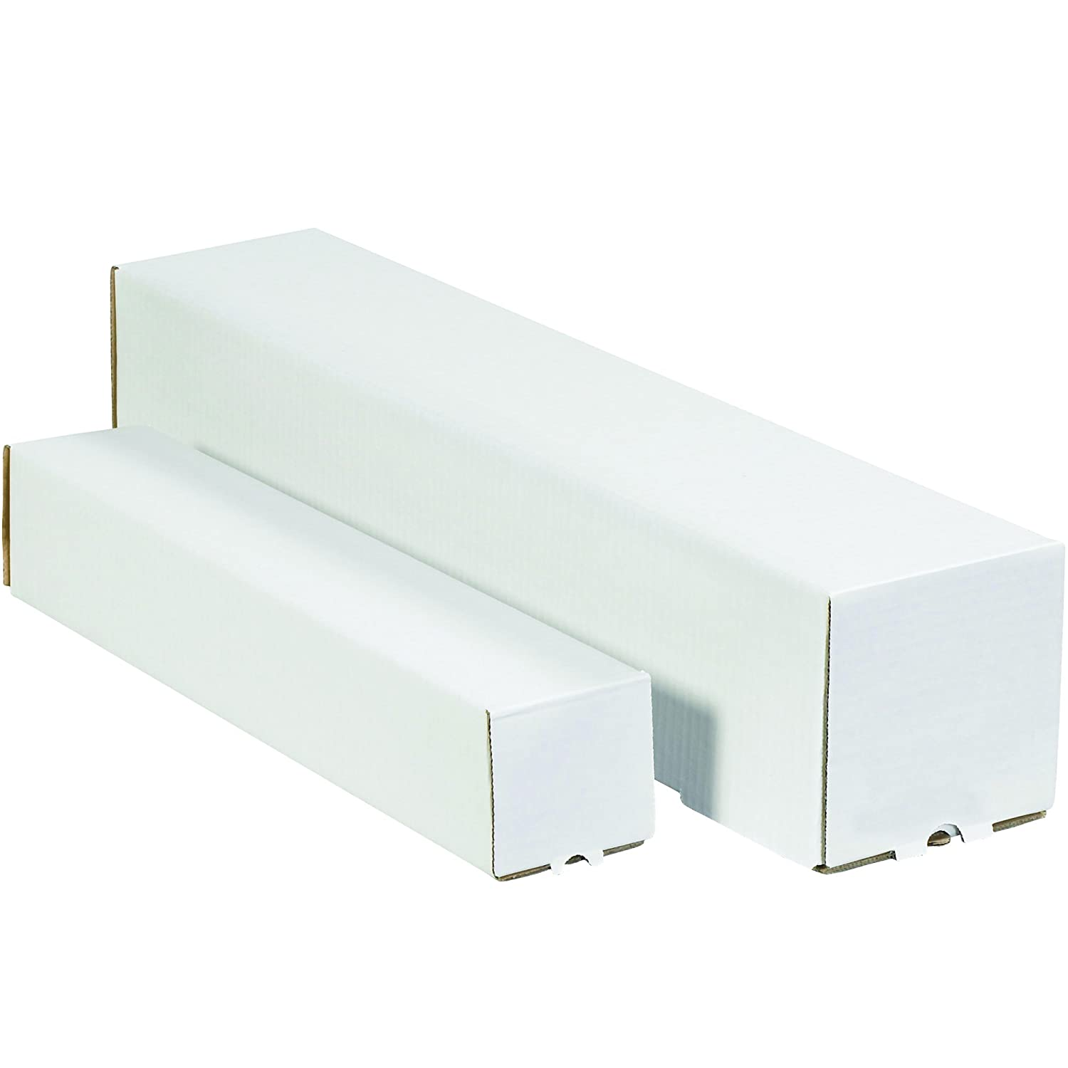 BOX USA BM2237 Square Mailing Tubes Pack of 50 Oyster White 2 x 37