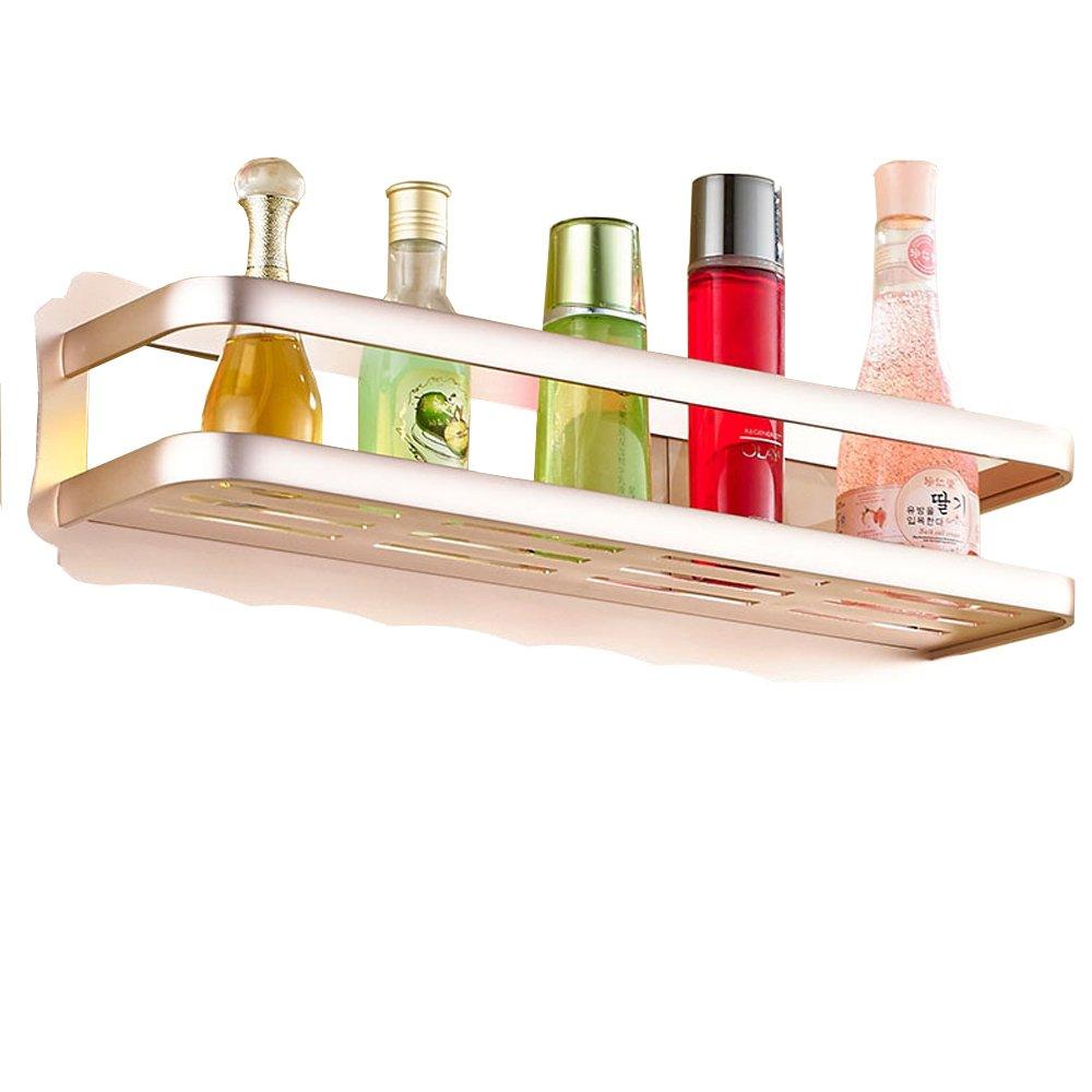 AIYoo Bathroom Organizer Rose Gold Shower Caddy Shelf Storage Basket Bath Organizer for Shampoo, Conditioner, Soap Holder Wall Mount Bathroom Storage Rack ,No Drilling, DIY, Super Strong Glue Adhering