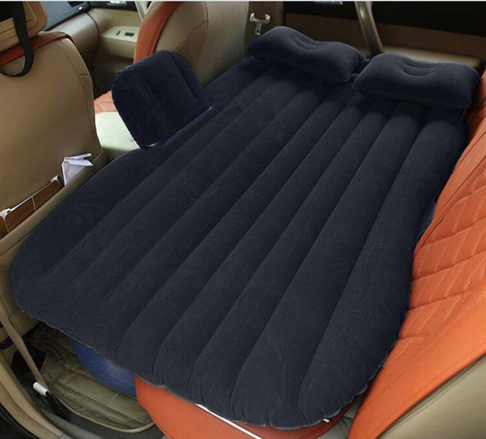 DMGF Faltbares Auto-Aufblasbares Matratzen-Universalluftkissen-Kissen SUV Verlängerte Tragbare Kampierende Reise-Luft-Auflagen Im Freien Mit Luftkissen-/Fuß-Matten-Luftpumpe