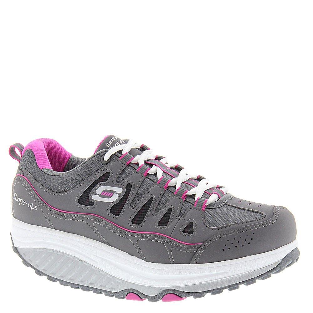 Skechers Women's Shape Ups 2.0 Comfort Stride Fashion Sneaker (Charcoal/Pink, 9)