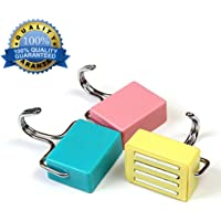 Shineus All-Purpose Magnetic Hooks Kitchen Strong Magnetic Hooks for Keys,Coat,Fridge and Doors Pastel