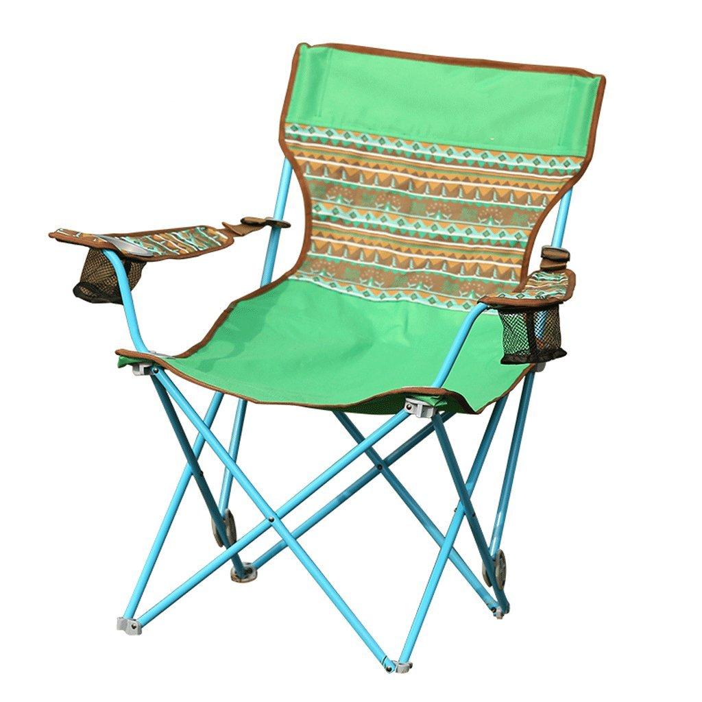 ZYNアウトドアポータブル椅子ビーチ調節可能なArmchair釣りライト折りたたみ椅子  グリーン B07FGGFPM6