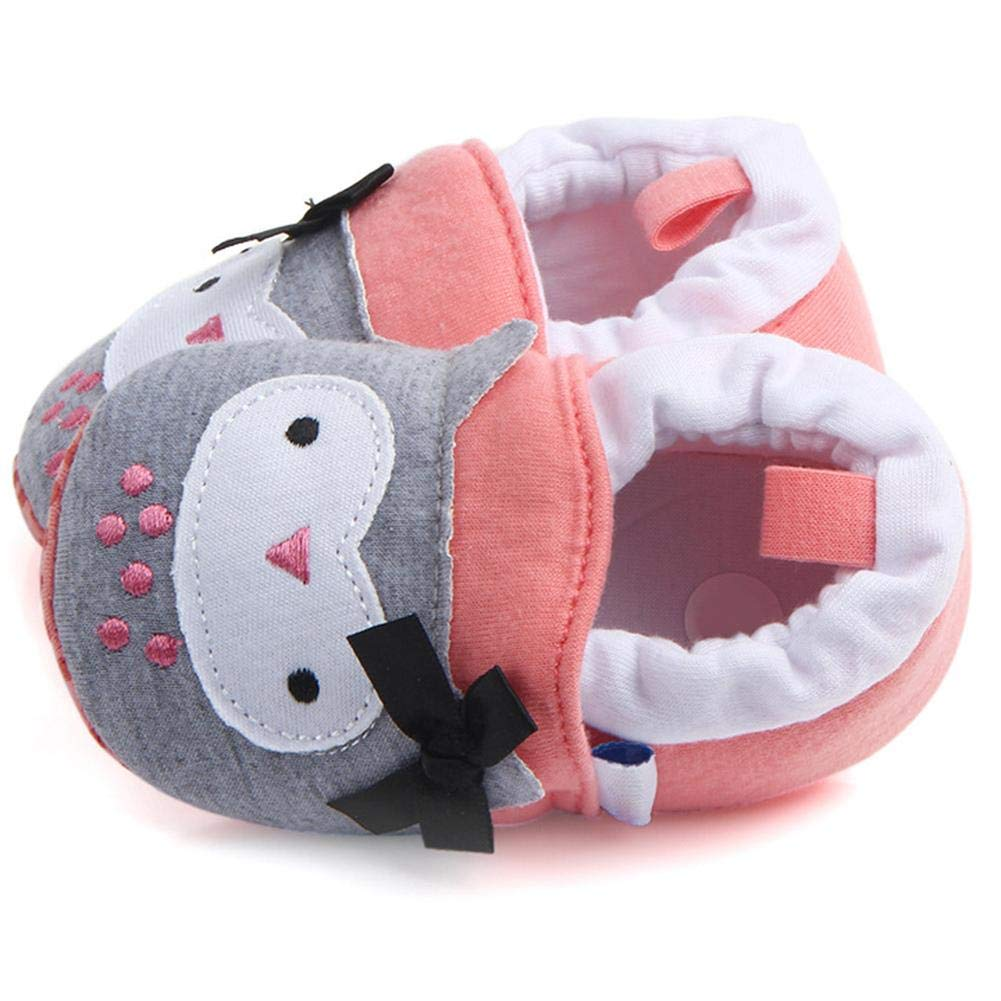 Diamondo Baby Prewalker Cartoon Animal Soft Sole Anti-slip Embroidery Warm Shoes