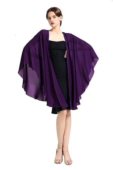 Femme Elégant écharpe Etole Châle Foulard Boléro en Mousseline de Soie pour  Robe de Soirée Mariage e807b3ba466