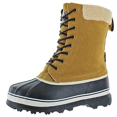 Revelstoke Men s Overland Waterproof Sherpa Snow Duck Boots Tan Size 9 ac995703c