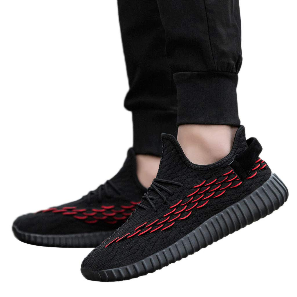 Running Shoes Men Black 2019 Men Breathable Running Shoes Fashion Braided Line Wear-Resistant Bottom Sneakers Authorization