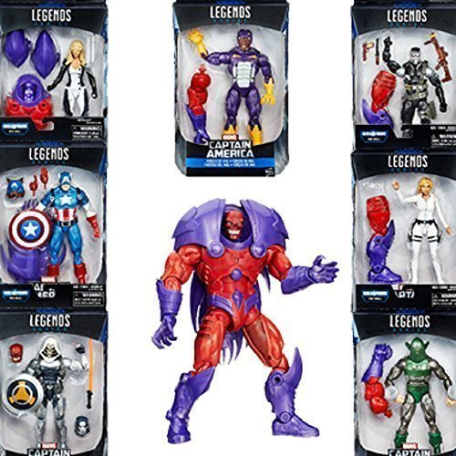 Marvel Legends Series Captain America Red Onslaught BAF- Set of seven 6