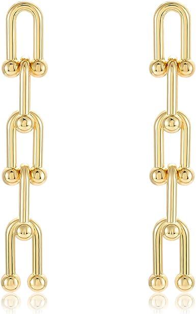 U shaped drop resin earring