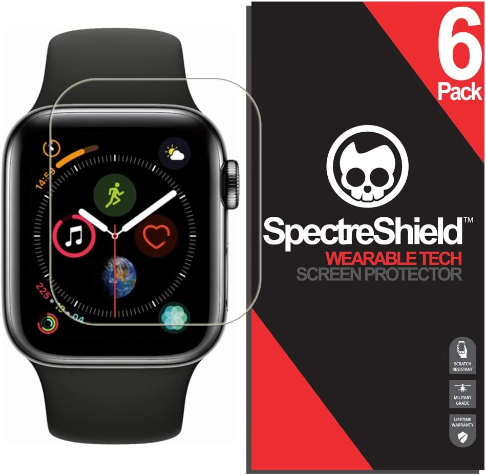 [6-Pack] Spectre Shield Screen Protector for Apple Watch 44mm (Series 6 5 4 SE) iWatch Case Friendly Apple Watch 44mm Series 6, 5, 4, SE Screen Protector Accessory TPU Clear Film
