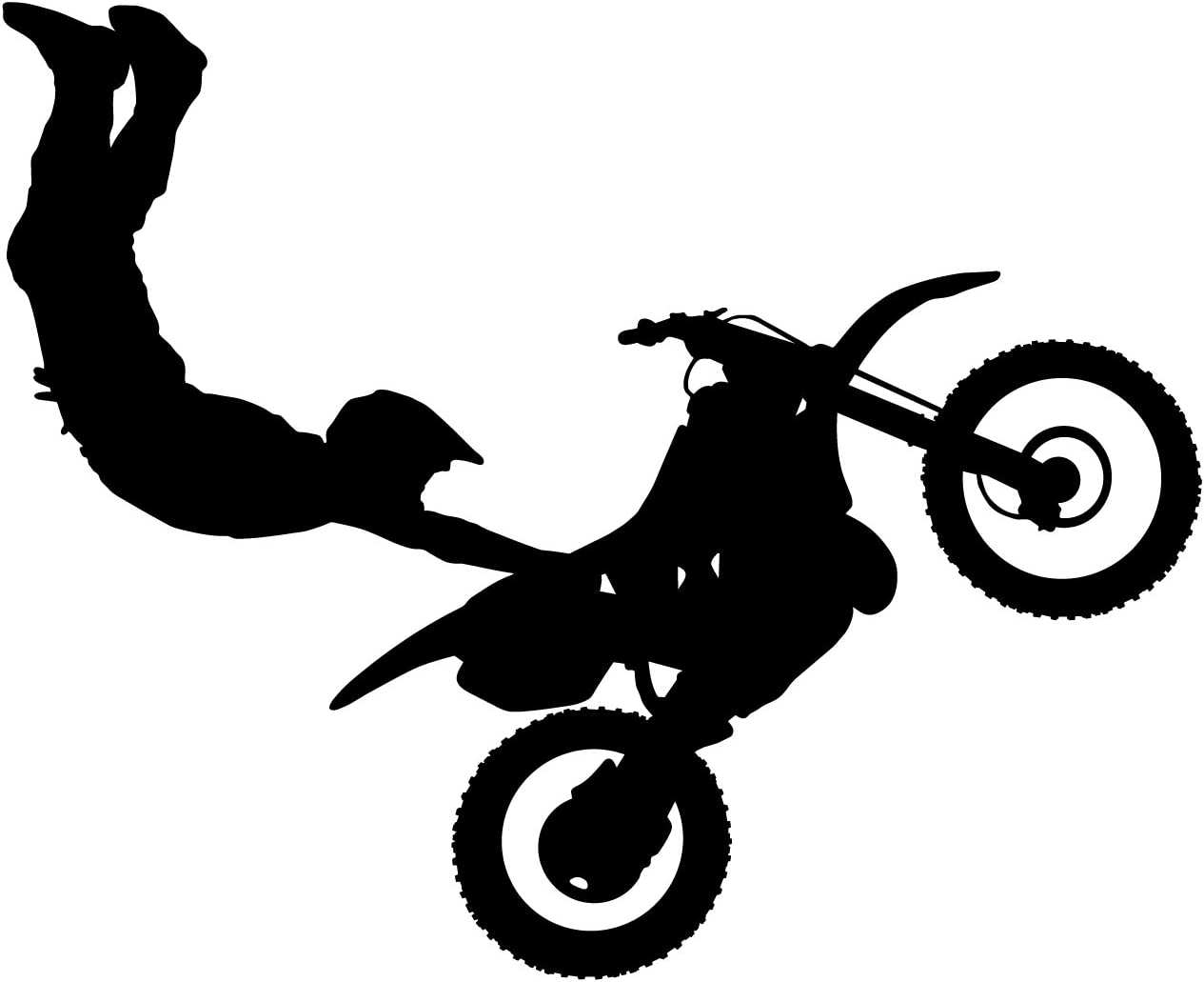 Motocross Wall Decal Sticker 9 - Decal Stickers and Mural for Kids Boys Girls Room and Bedroom. Dirt Bike Wall Art for Home Decor and Decoration Ð Extreme Sports Motocross Bike Silhouette Mural