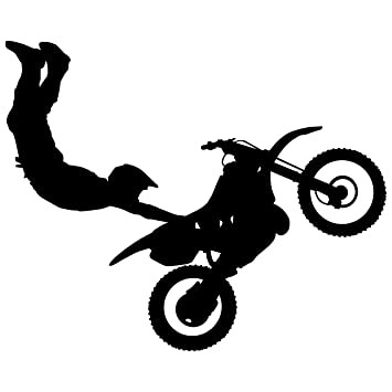 Amazon.com: Motocross Wall Decal Sticker 9 - Decal Stickers and ...