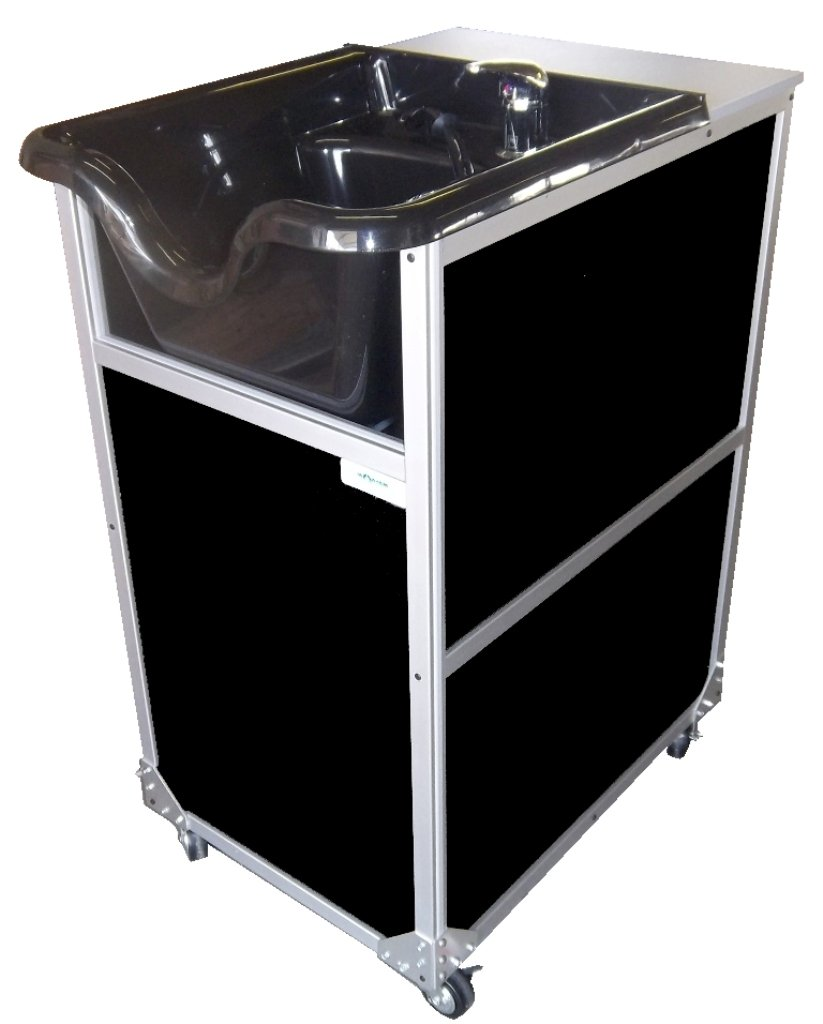Monsam PSE-2005S Portable Shampoo Sink with Sprayer, Black