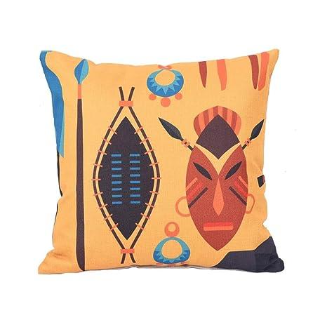 JM- Almohada de cintura, decoración del hogar, estilo étnico ...