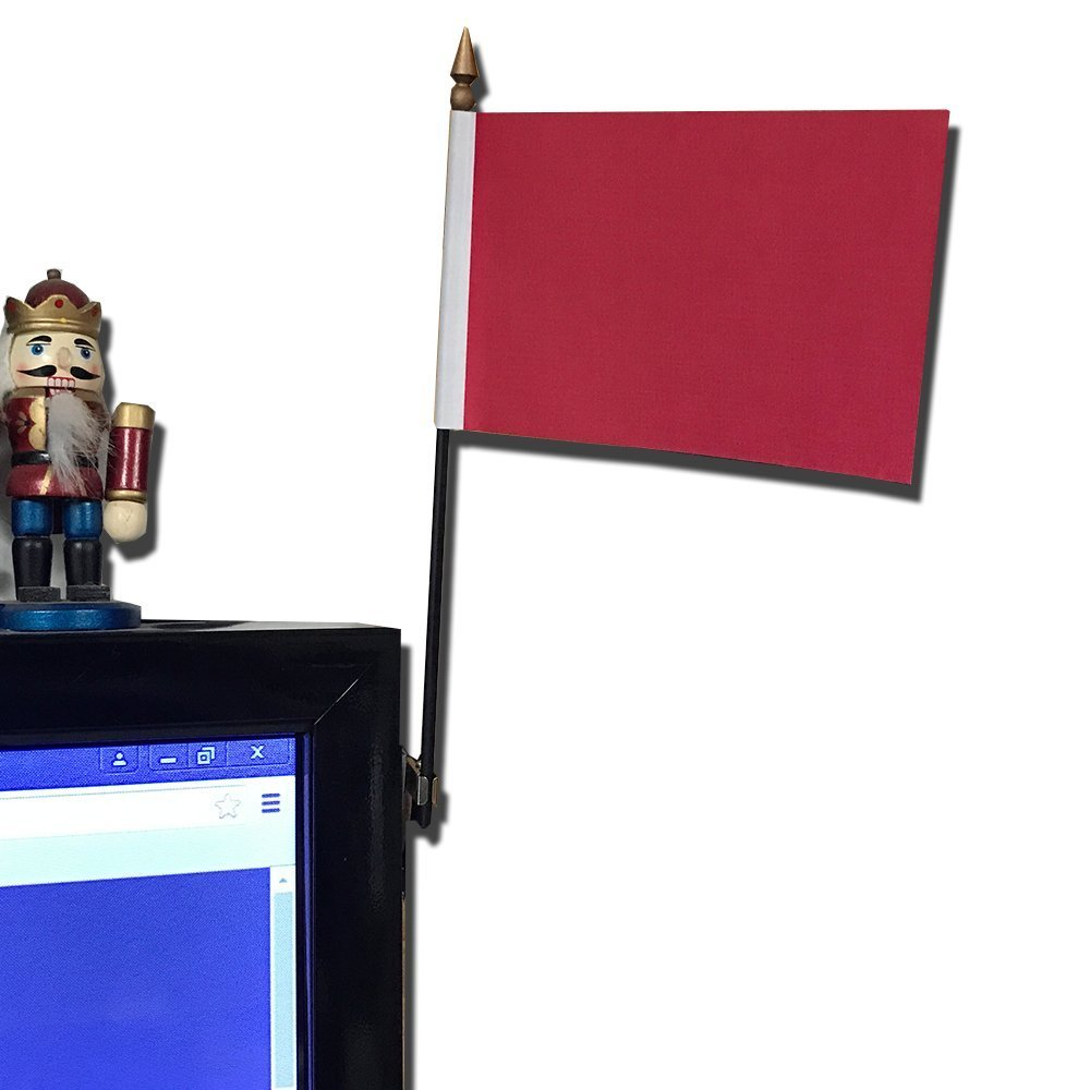 20 Pack Red Desk Flags with Flag up Flag Down 360 Metal Clips Pomodoro Status Alert Office by Deskflag (Image #4)