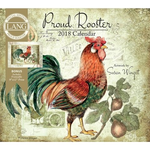 Nice 2019 The Lang Proud Rooster Special Edition Wall Calendar hot sale